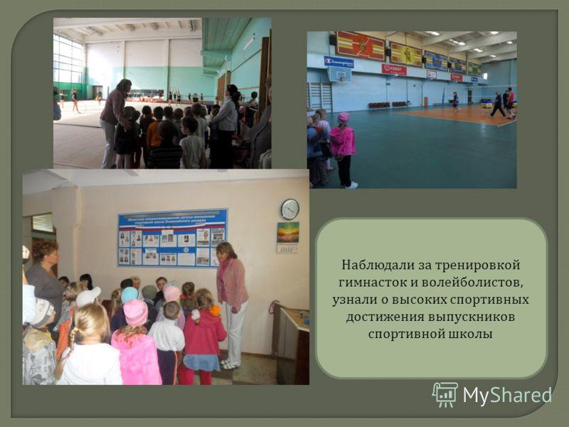 Наблюдали за тренировкой гимнасток и волейболистов, узнали о высоких спортивных достижения выпускников спортивной школы