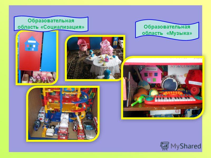 Образовательная область «Социализация» Образовательная область «Музыка»