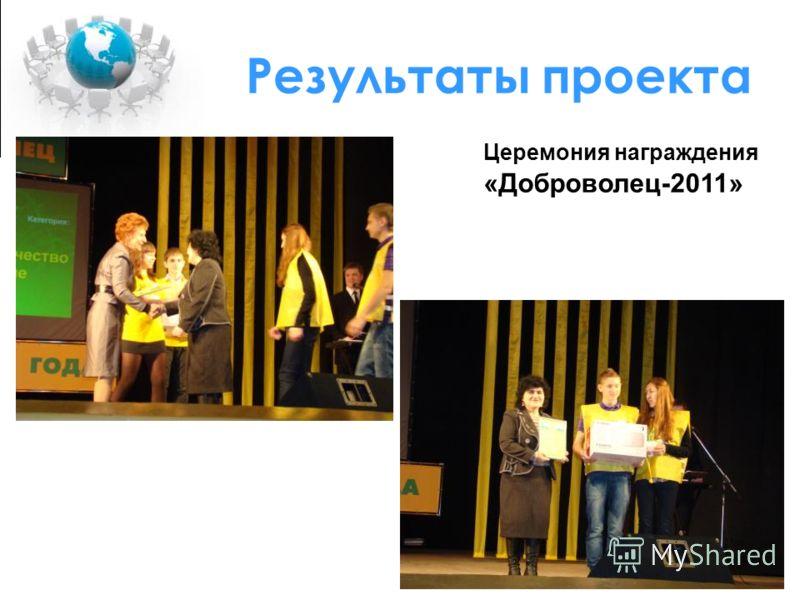 Церемония награждения «Доброволец-2011»