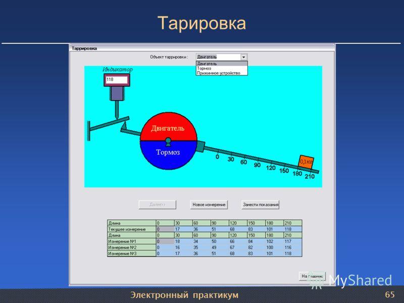 Электронный практикум 65 Тарировка