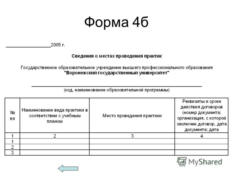 Форма 4б