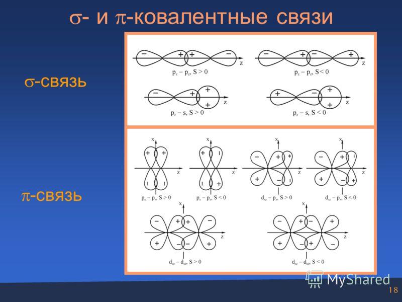18 - и -ковалентные связи -связь