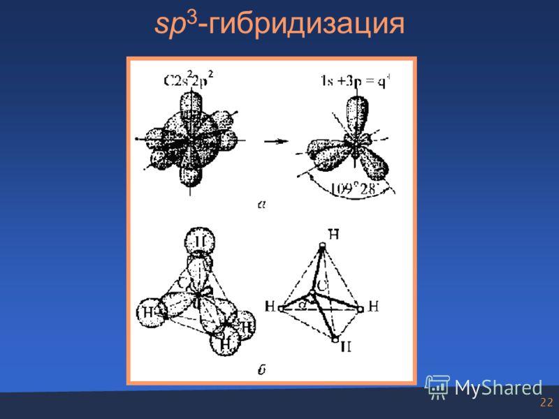 22 sp 3 -гибридизация