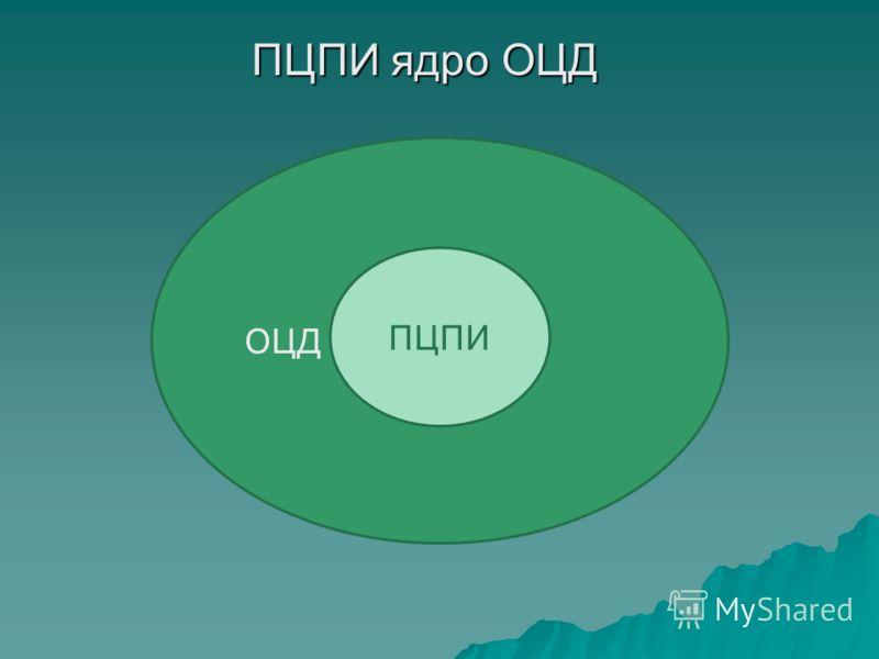 ПЦПИ ядро ОЦД ОЦД ПЦПИ