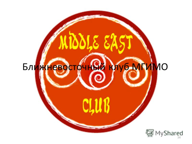 34 Ближневосточный клуб МГИМО