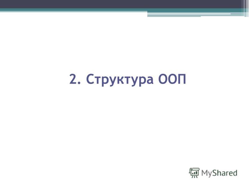 2. Структура ООП