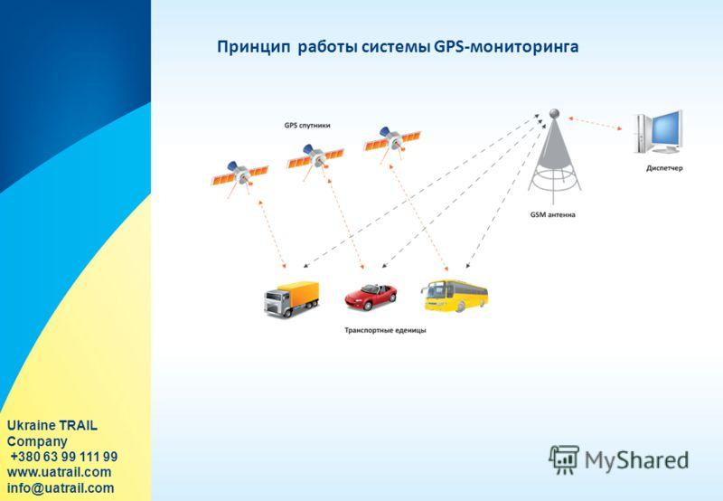 Принцип работы системы GPS-мониторинга Ukraine TRAIL Company +380 63 99 111 99 www.uatrail.com info@uatrail.com