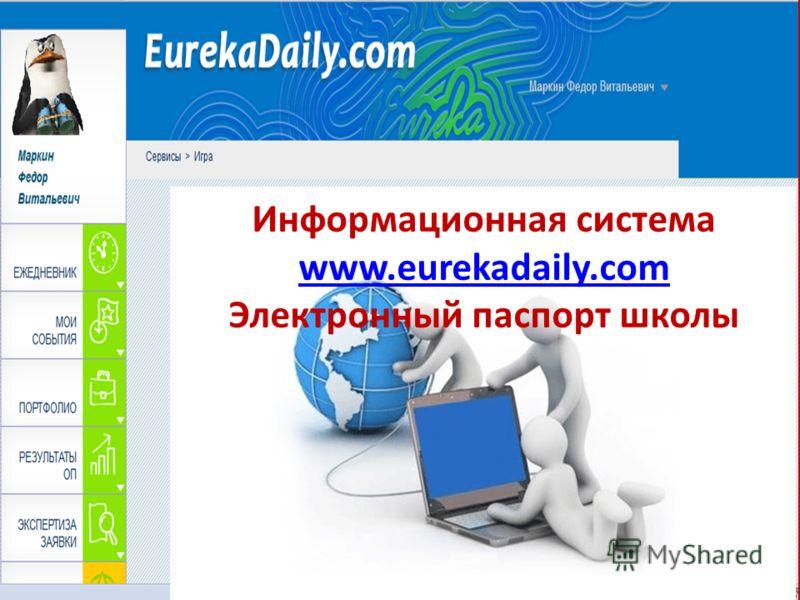 Информационная система www.eurekadaily.com Электронный паспорт школы
