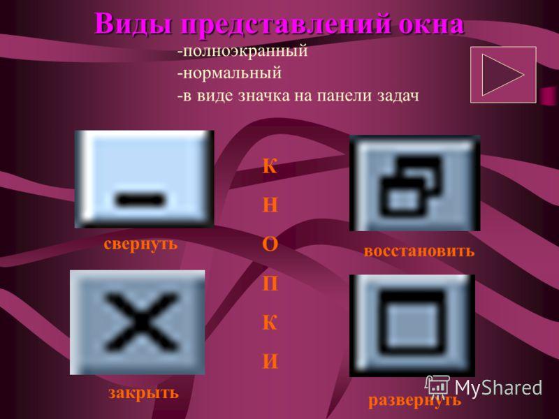 Элементы диалогового окна Переключатель - Флажок - Счетчик - Список - Кнопки управления - Ползунок - Строка ввода -