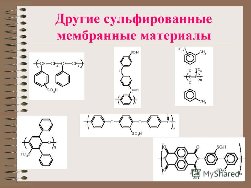 Другие сульфированные мембранные материалы