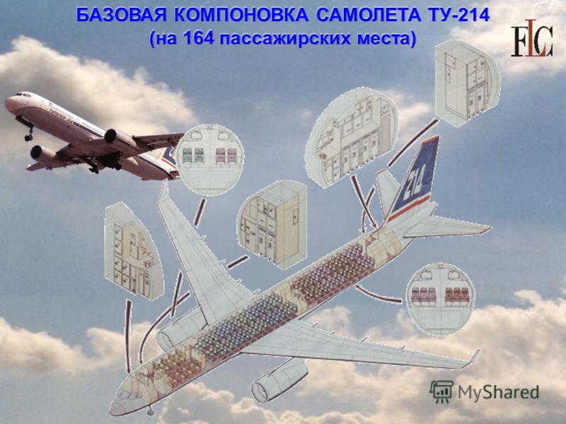 БАЗОВАЯ КОМПОНОВКА САМОЛЕТА ТУ-214 (на 164 пассажирских места)
