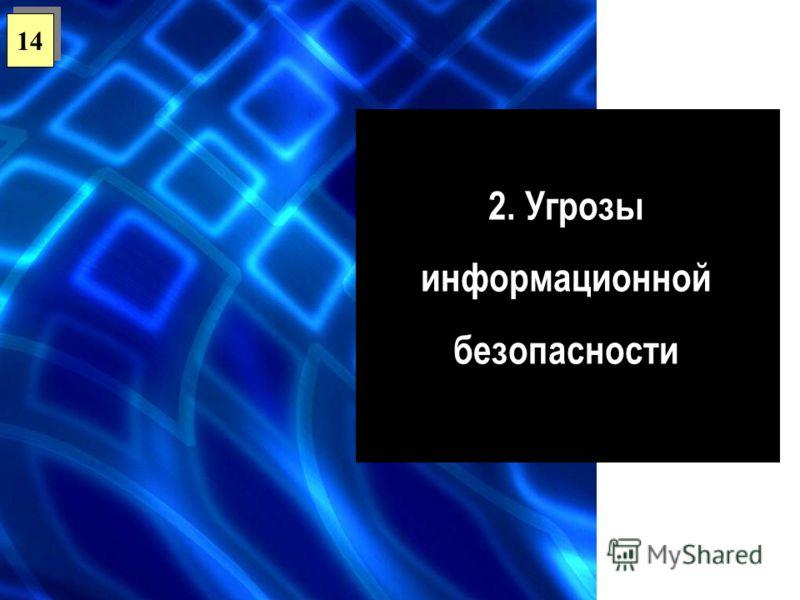 2. Угрозы информационной безопасности 14