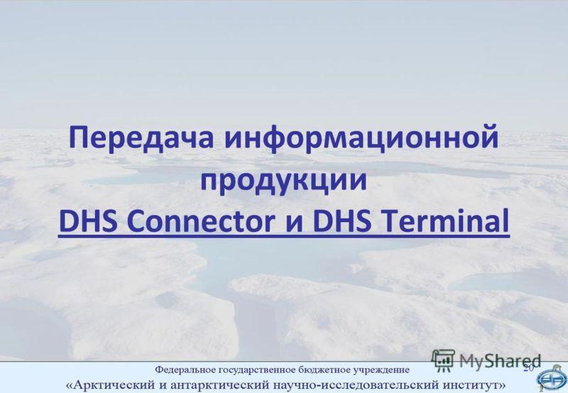 Передача информационной продукции DHS Connector и DHS Terminal 20