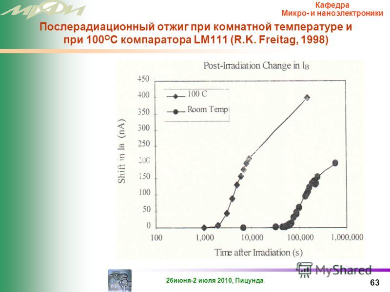 26июня-2 июля 2010, Пицунда Кафедра Микро- и наноэлектроники Проблема 62 Экстракция параметров модели