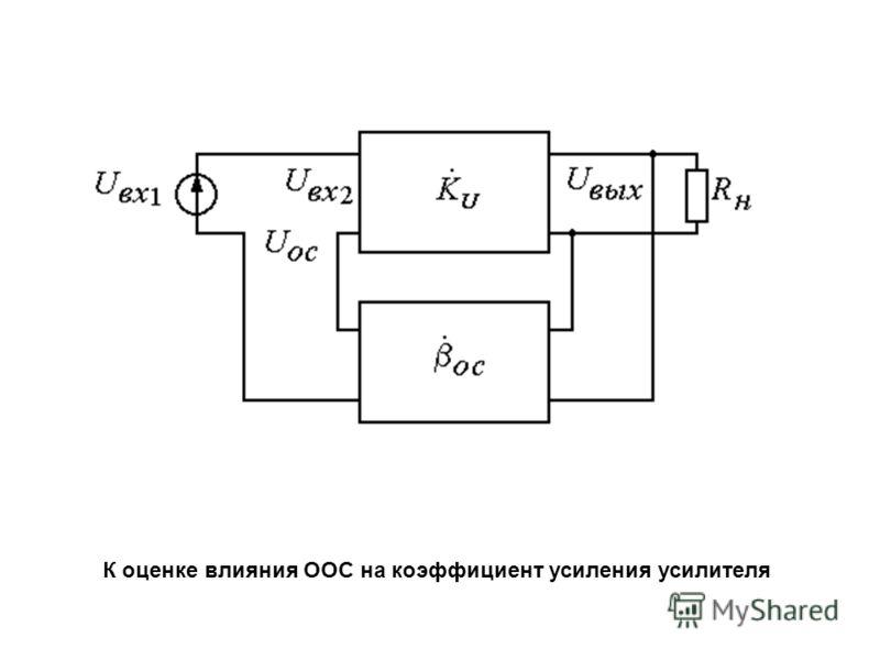 К оценке влияния ООС на коэффициент усиления усилителя