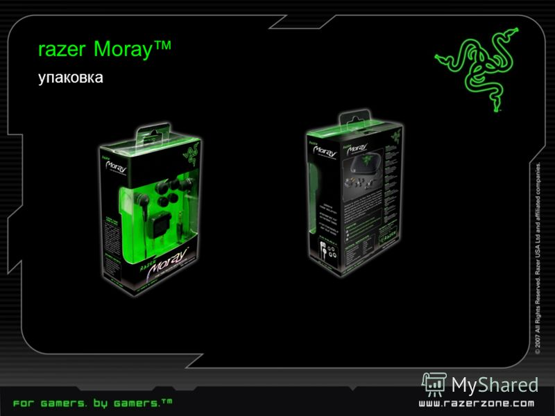 razer Moray упаковка