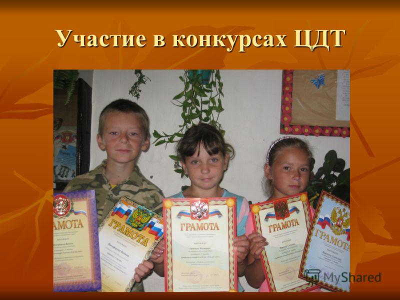 Участие в конкурсах ЦДТ