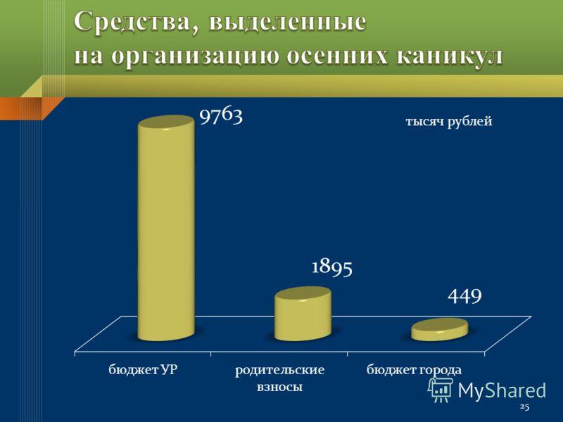 25 тысяч рублей