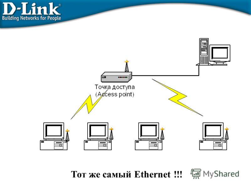 Тот же самый Ethernet !!!