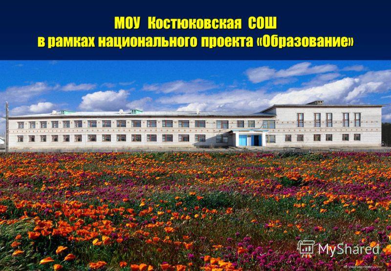 МОУ Костюковская СОШ в рамках национального проекта «Образование»