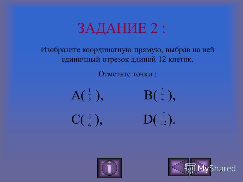 8 -5 -4 -3 -2 -1 0 1 2 3 4 5 6 х А В З АДАНИЕ 1 : определите координаты точек А и В. Это ответ