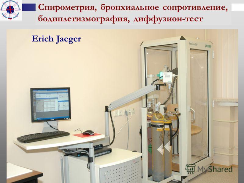 Спирометрия, бронхиальное сопротивление, бодиплетизмография, диффузион-тест Erich Jaeger