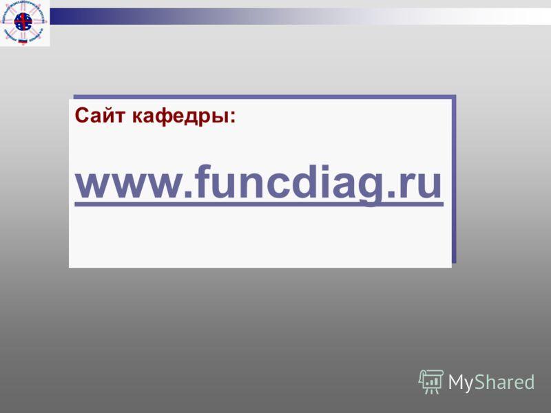 Сайт кафедры: www.funcdiag.ru Сайт кафедры: www.funcdiag.ru