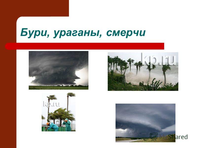 Бури, ураганы, смерчи