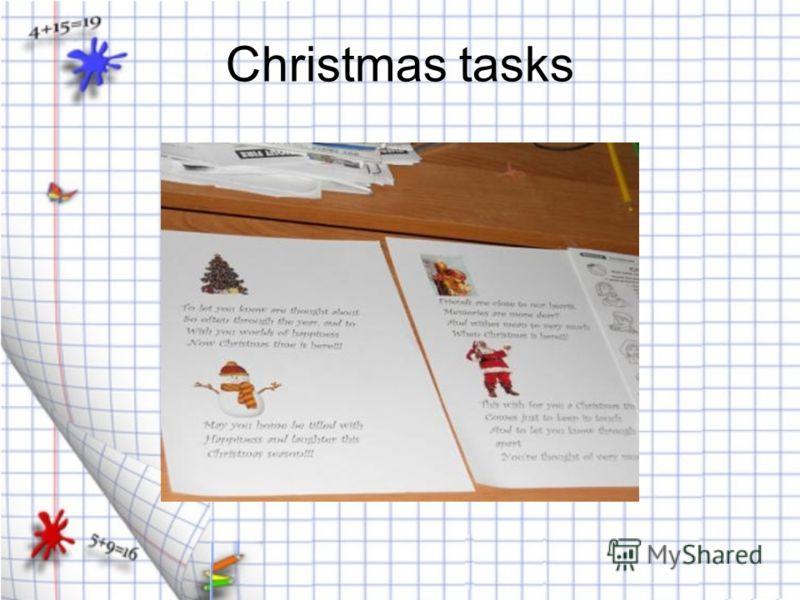 Christmas tasks