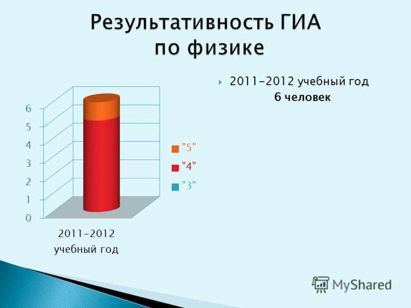 2011-2012 учебный год 6 человек