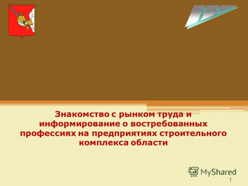 1 Знакомство с рынком труда и информирование о востребованных профессиях на предприятиях строительного комплекса области
