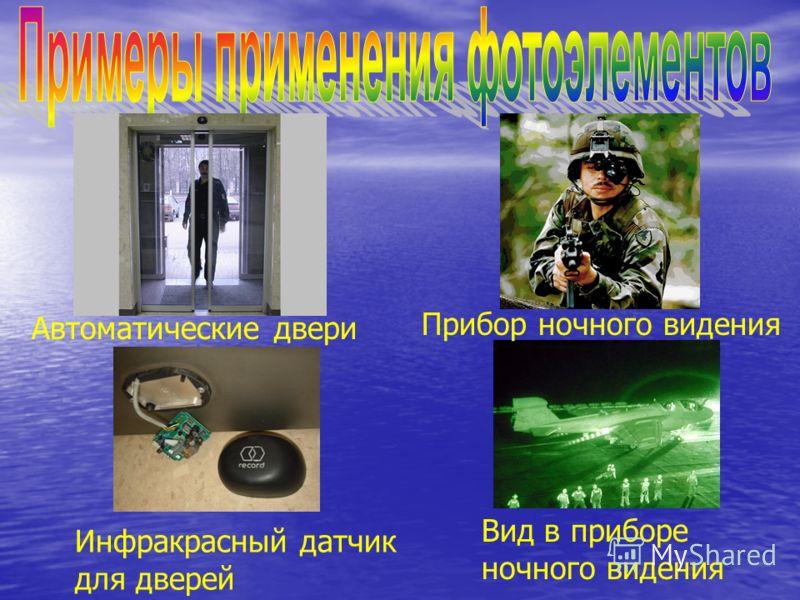Автоматические двери Вид в приборе ночного видения Инфракрасный датчик для дверей Прибор ночного видения