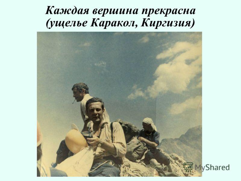 Каждая вершина прекрасна (ущелье Каракол, Киргизия)