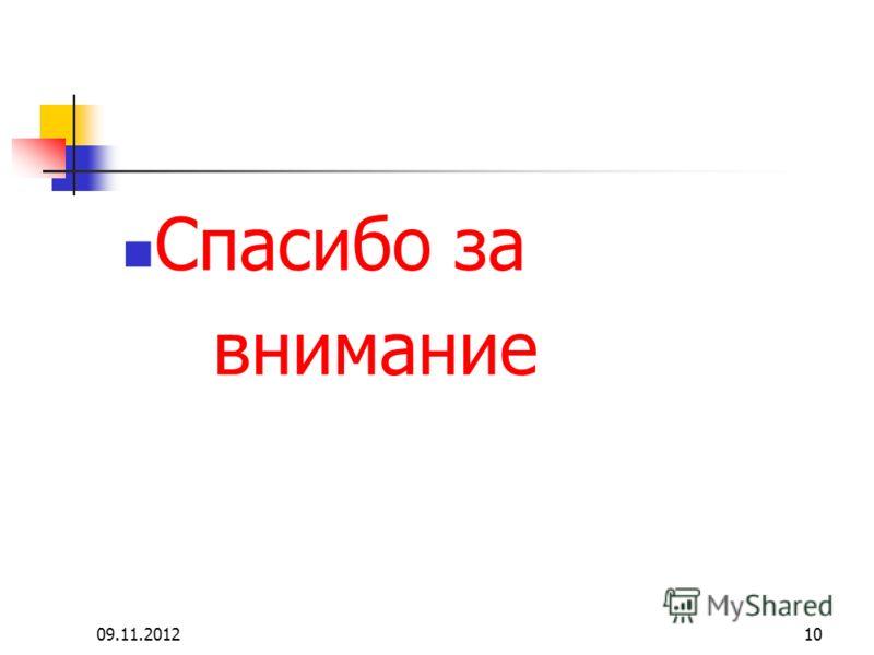 09.11.201210 Спасибо за внимание