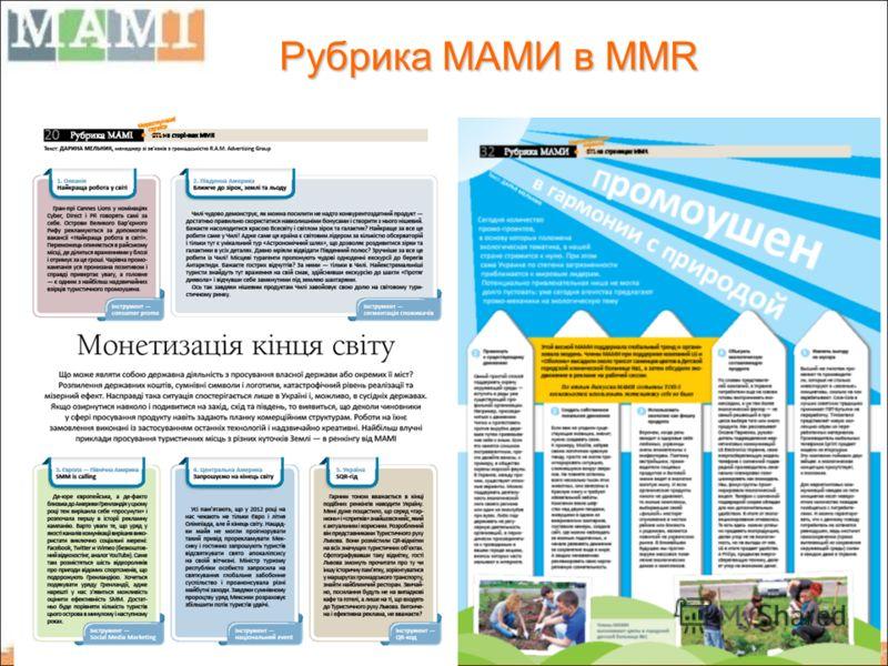 Рубрика МАМИ в MMR