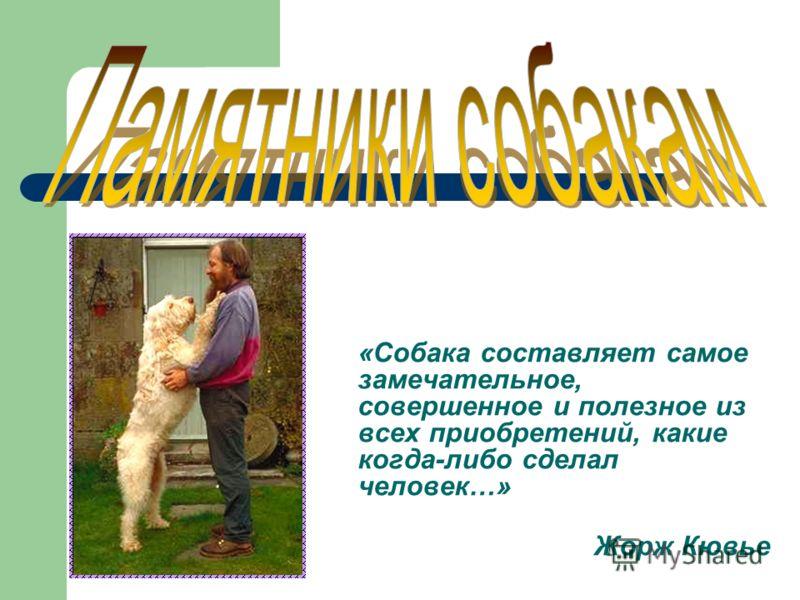 «Собака составляет самое замечательное, совершенное и полезное из всех приобретений, какие когда-либо сделал человек…» Жорж Кювье