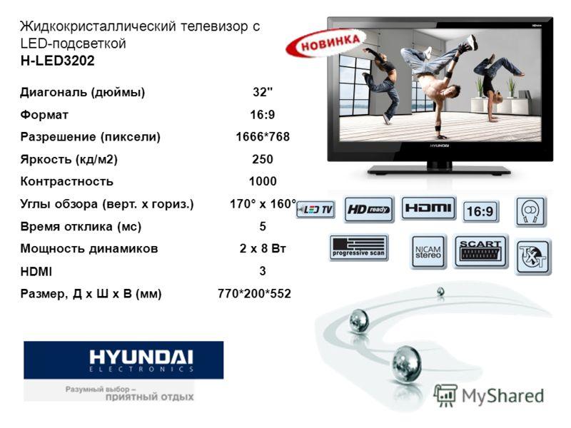Жидкокристаллический телевизор c LED-подсветкой H-LED3202 Диагональ (дюймы)32