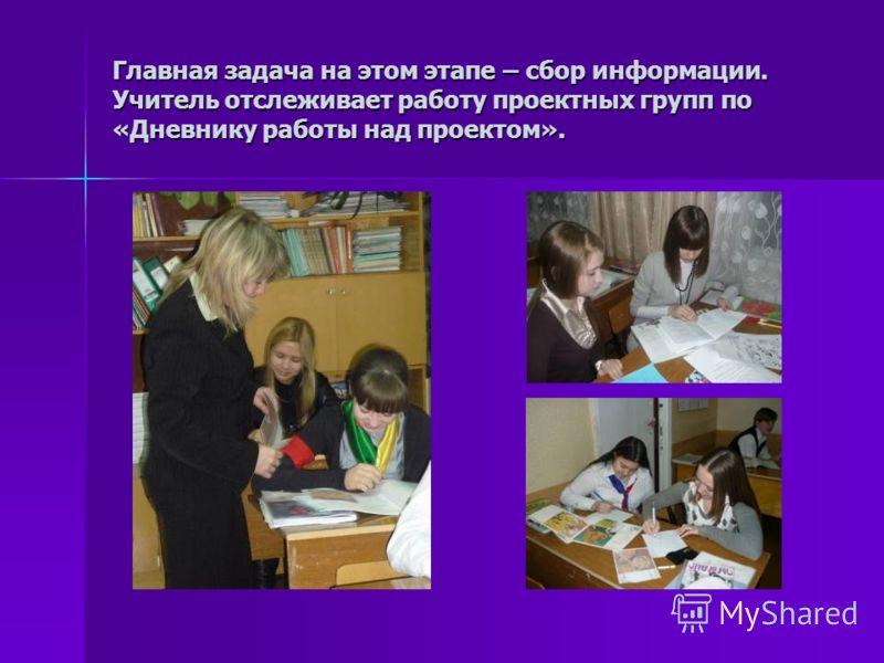 Выполнение проекта 1. Поисковый этап 2. Промежуточные отчеты учащихся 3. Индивидуальные и групповые консультации по содержанию и правилам оформления проектных работ