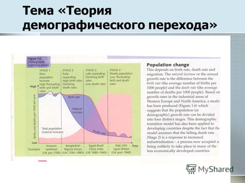Тема «Теория демографического перехода»