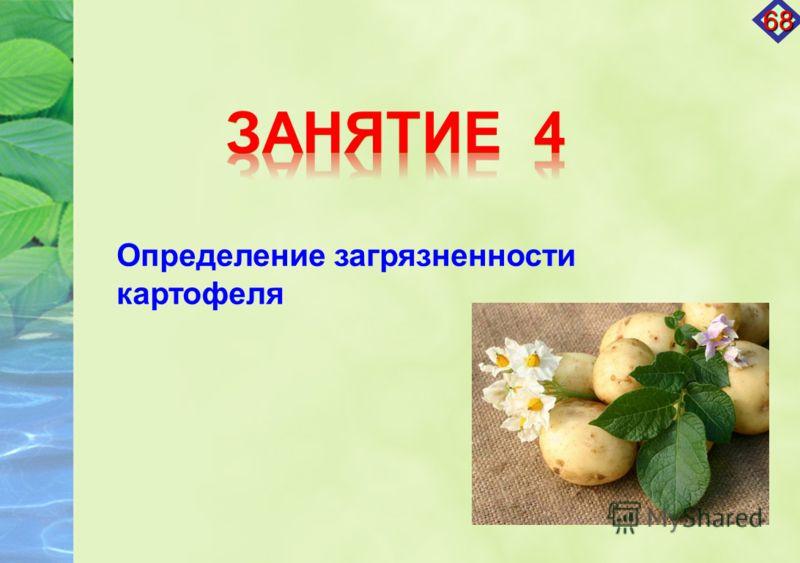 Определение загрязненности картофеля 68