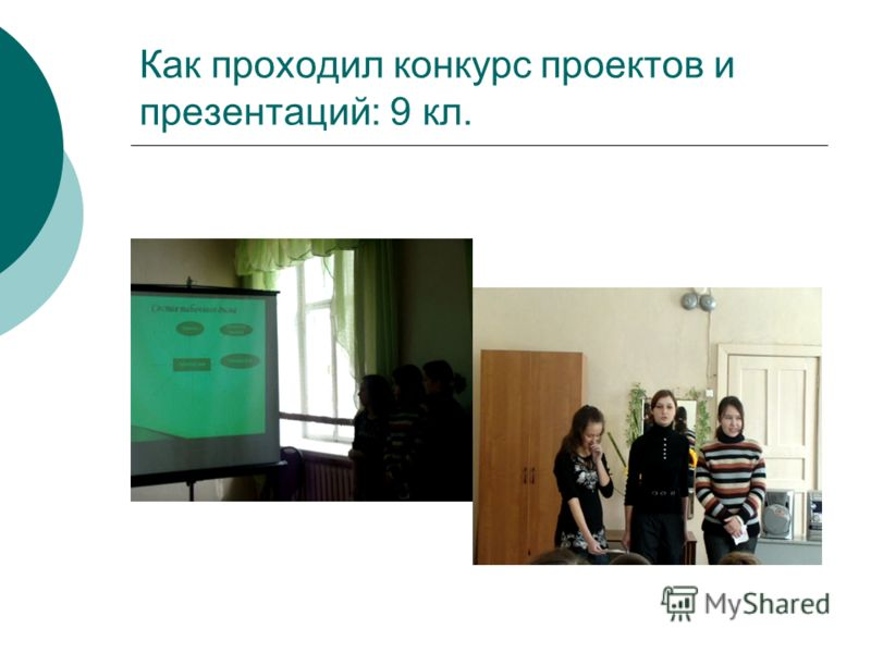 Как проходил конкурс проектов и презентаций: 9 кл.