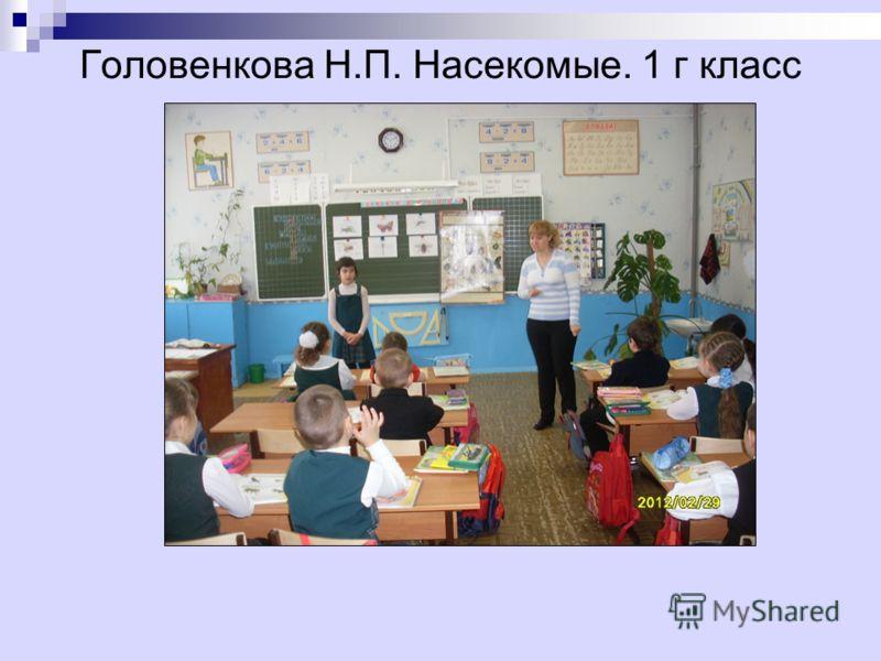 Головенкова Н.П. Насекомые. 1 г класс