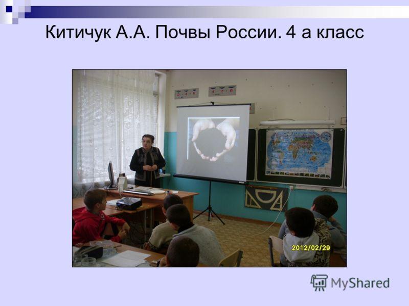 Китичук А.А. Почвы России. 4 а класс