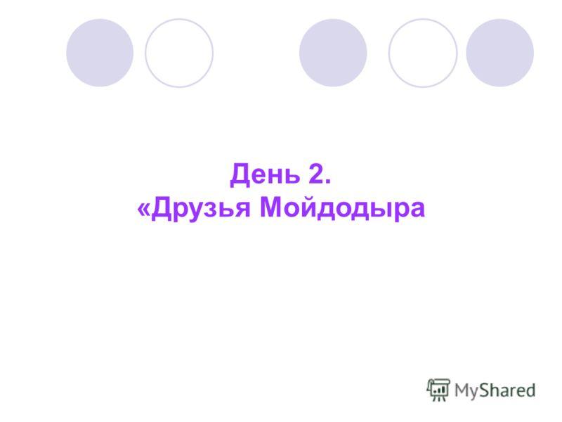 День 2. «Друзья Мойдодыра
