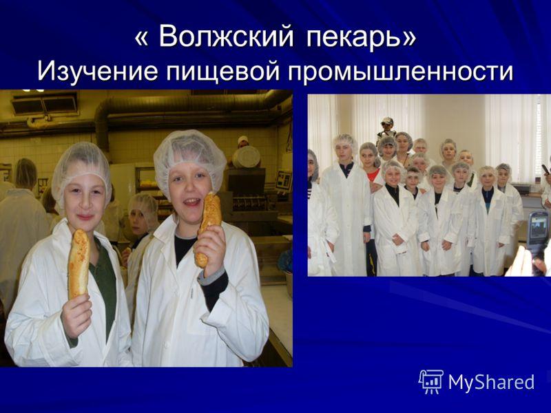 « Волжский пекарь» Изучение пищевой промышленности