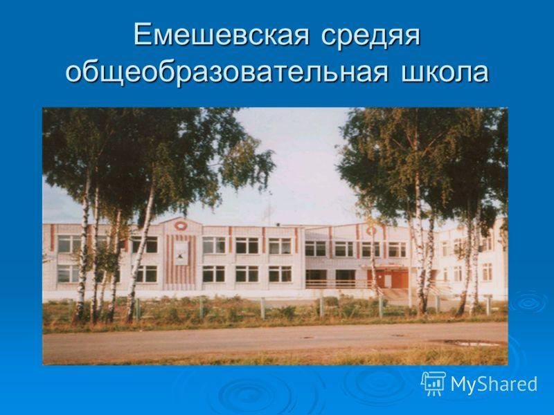 Емешевская средяя общеобразовательная школа