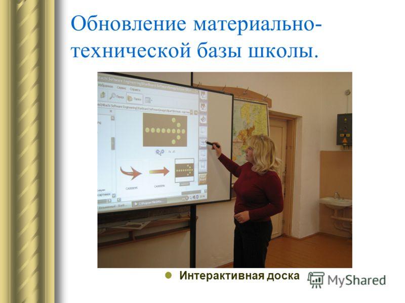 Обновление материально- технической базы школы. Интерактивная доска