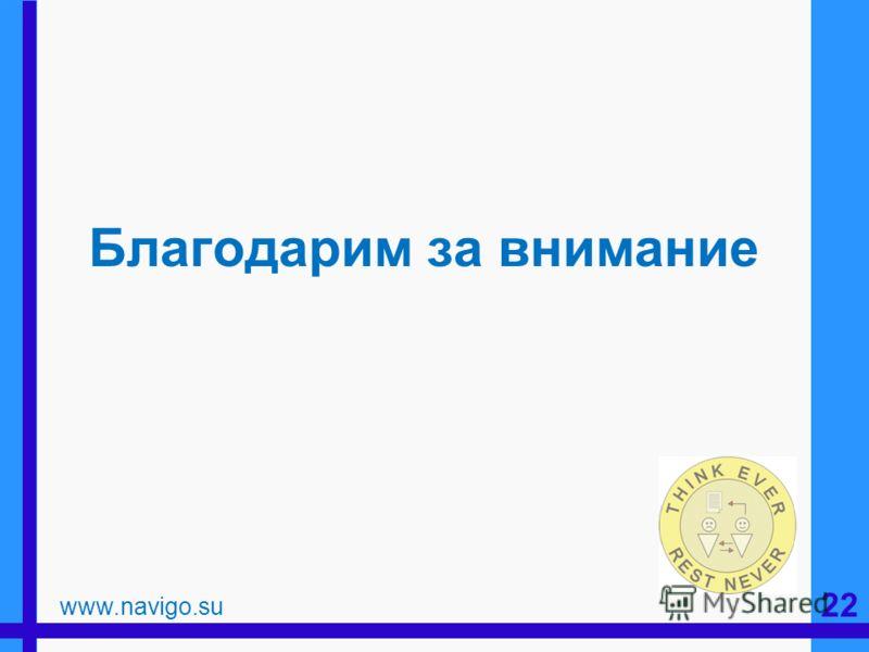 Благодарим за внимание www.navigo.su 22