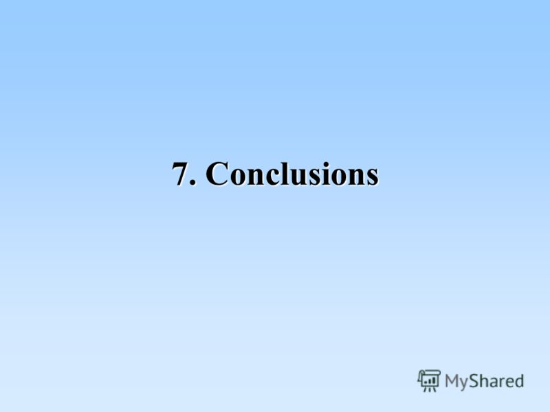 7. Conclusions
