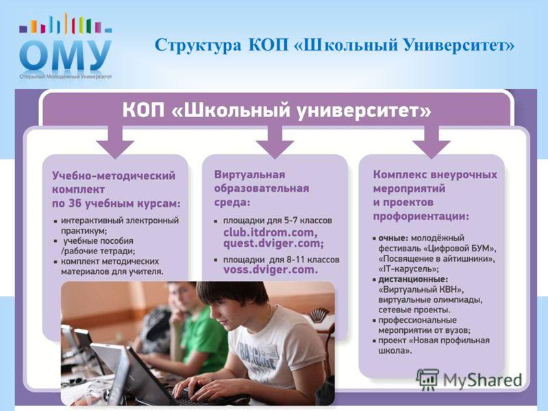 . Структура КОП «Школьный Университет»